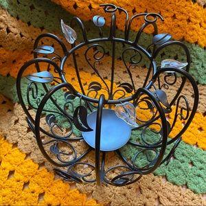 PartyLite P8979 Wire Pumpkin Pillar Candle Holder